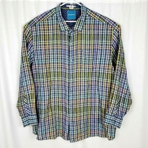 Tommy Bahama Plaid Linen Shirt 3X Big